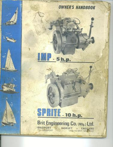 Brit Sprite 1 HP engine manual cover