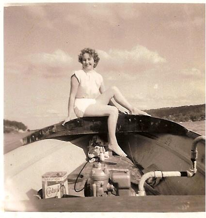 pic of mum in a putt putt 1958 Australia