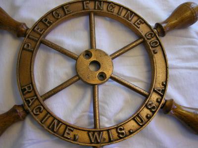 PIERCE ENGINE CO. SHIPS WHEEL
