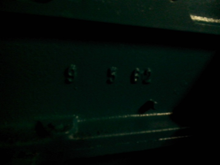 Number on the engine block