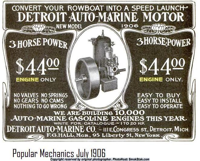 1906 Auto-Marine ad