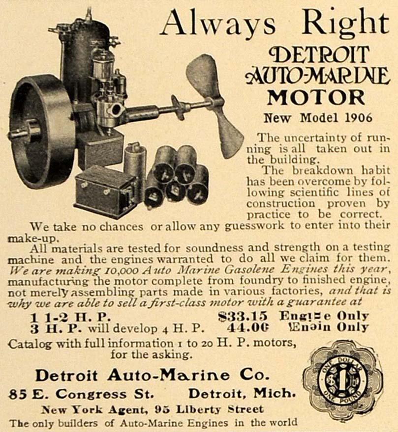 1906 Auto-Marine engine ad2