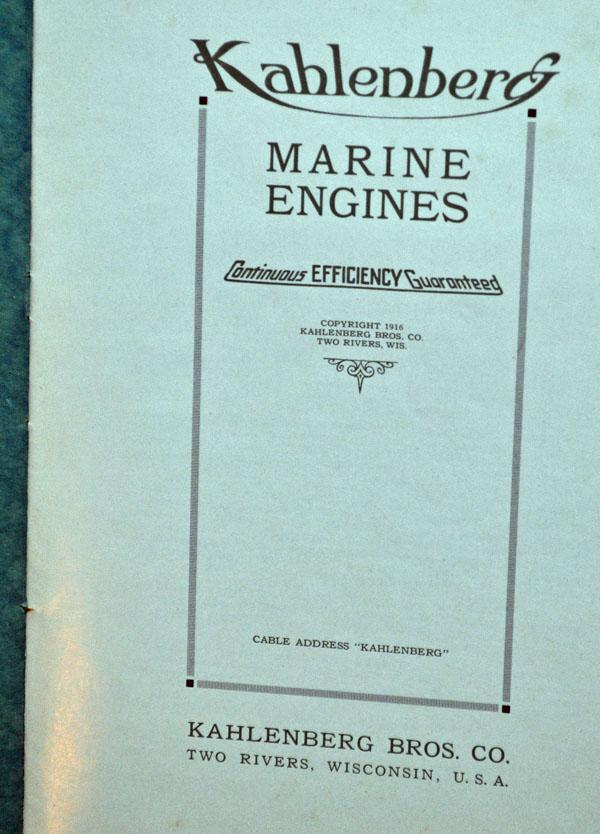 1916 Kahlenberg catalog