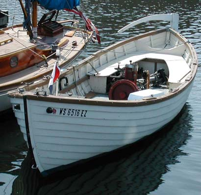 Straubel 6hp in surf boat