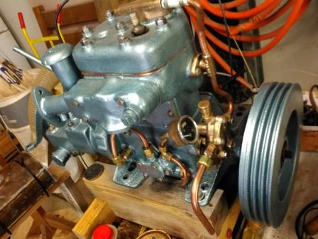 The engine before the flywheel cracked