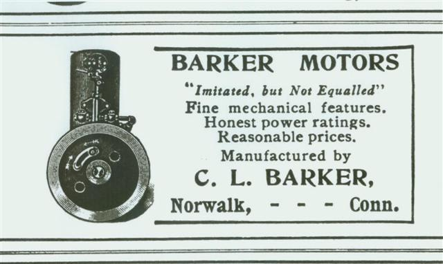 1910 Gas Power Barker ad
