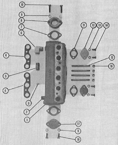 P-60 exhaust manifold photo.
