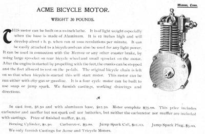 Palmer bicycle motors