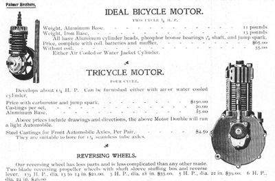 Palmer ca 1900 bicycle motors for OME
