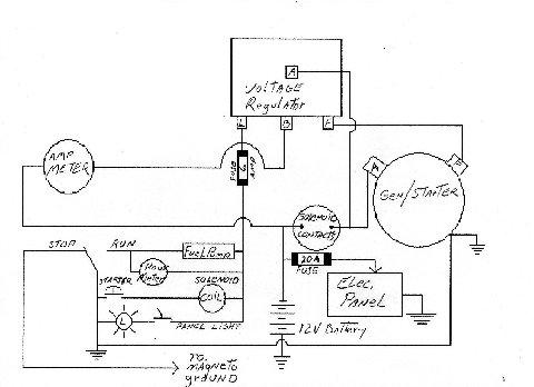 Old Marine Engine: Starter/Generator SchematicOld Marine Engine