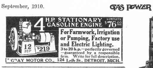 GRAY Stationary Engine Ad