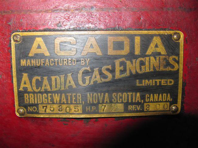 Acadia 7 1/2 Label