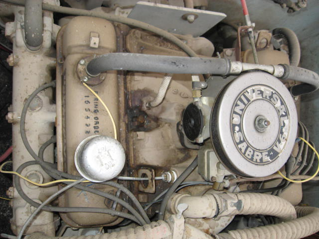 old marine engine universal super sabre buick v6 225 cid 155 hp engine shot sabre v6