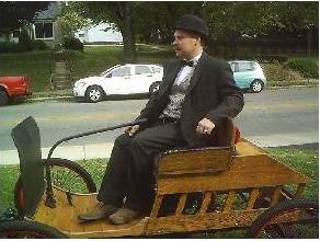 Me on my home built Haynes Pioneer Replica