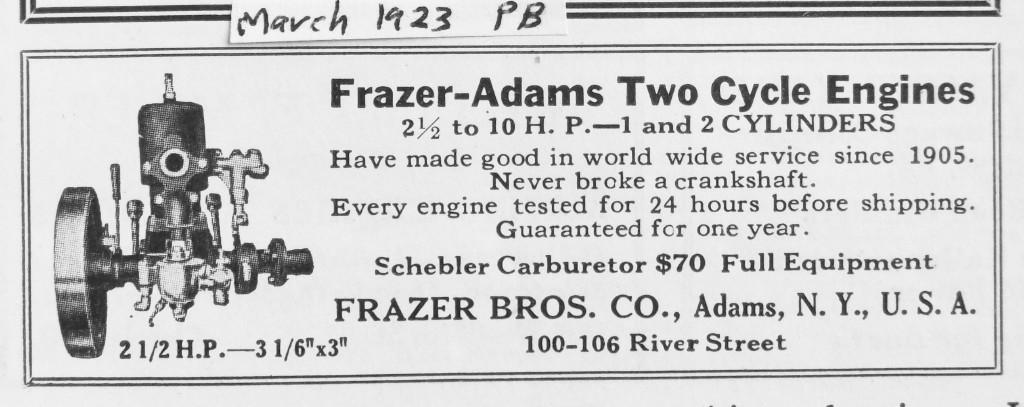 1923 Frazer-Adams Single