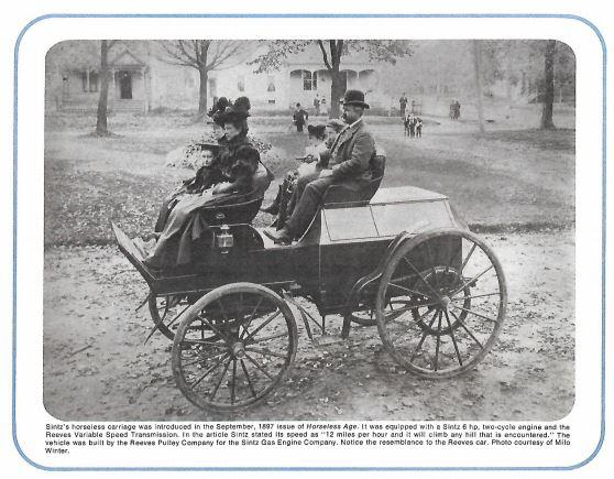 Sintz horseless carriage