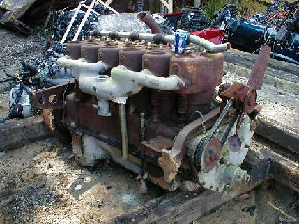 Old marine engine found in the junk yard for Outboard motor salvage yard