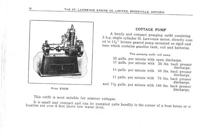 St. Lawrence Cottage Pump