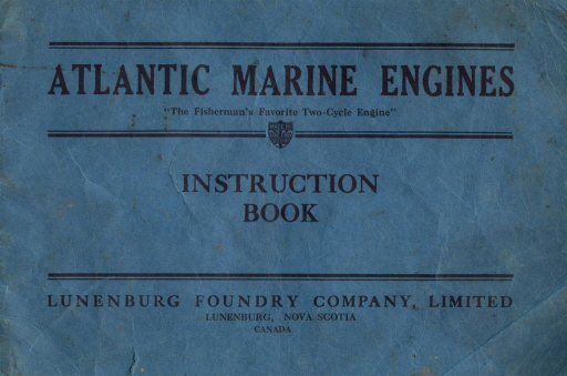 Atlantic Engines Instruction Book Cover