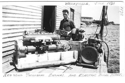 Lloyd with Red Wing Engine