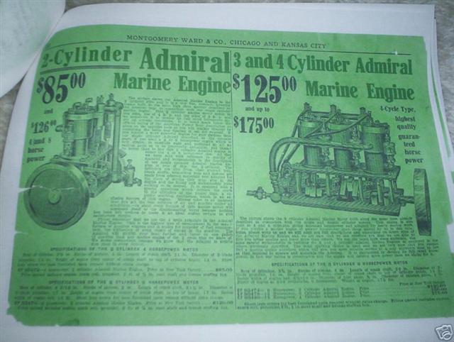 1910 Montgomery Wards Admiral Marine Engine