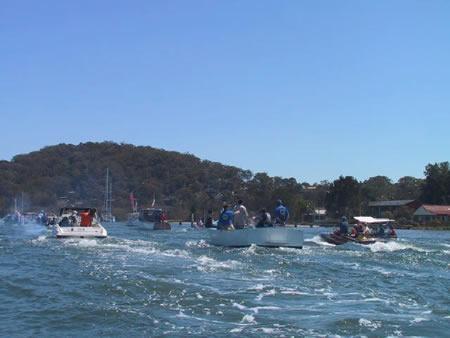 The flotilla heads south