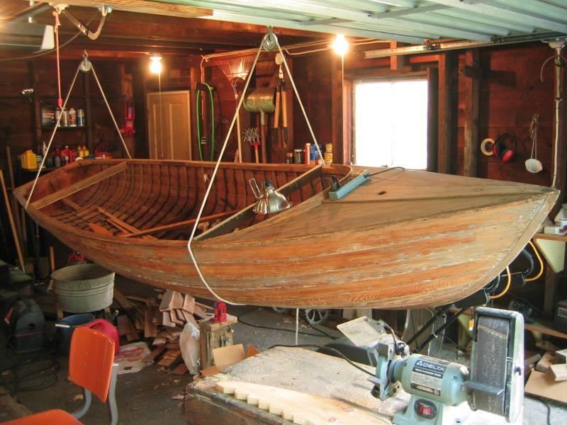 Bay Girl's hull, stripped