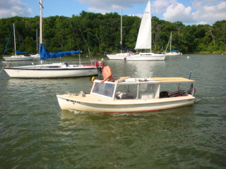 Catalina 15 converted to motorboat