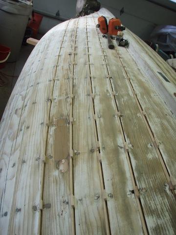 Tuttle hull seam re-build