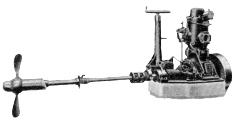 Bolinder oil engine